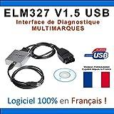 Valise Interface ELM327 OBD2 USB Voiture Scanner OBD OBD2 Diagnostic MULTIMARQUES - DIAG Auto