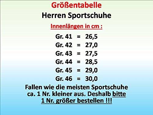 GIBRA® Herren Sportschuhe, sehr leicht und bequem, schwarz/grau, Gr. 41-46 Schwarz/Grau