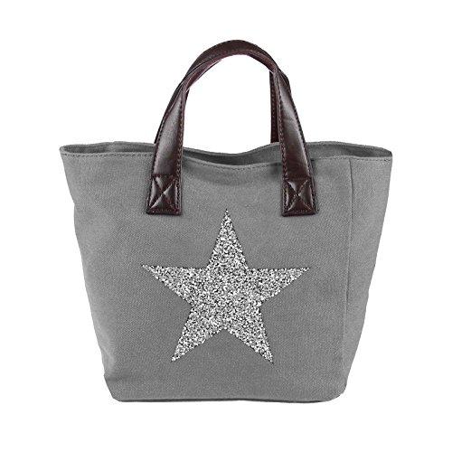 OBC Only-Beautiful-Couture , Sac bandoulière pour femme marron kaki ca.: 35x24x14 (BxHxT) gris
