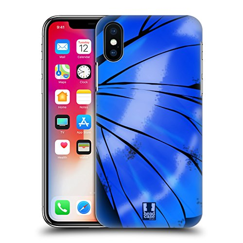 Head Case Designs Monarca Illustrazioni Di Ali Di Farfalla Cover Retro Rigida per Apple iPhone X Morpho Cypris
