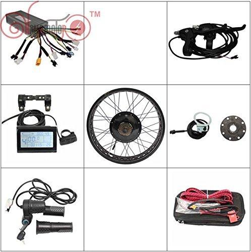 HYLH 36V1200W 48V 1500W Fat Tire Elektro-Fahrrad-Hinterrad-Umrüstsätze Bestes Verkaufsprodukt , Felgensatz Farbe: SCHWARZ, GOLDEN, BLAU, ROT