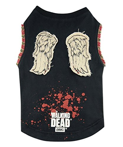 The Walking Dead Daryl Wings Dog Tshirt (Small) by The Coop (E Walk Dog Kostüm)