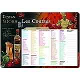 Editions Dalix Liste de course cuisine Aimant Violet/Vert