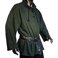 Rol en vivo - Camisa medieval - color verde - S