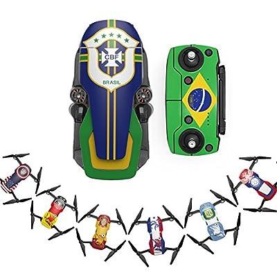 Studyset Russia World Cup Theme Drone Black Carbon Fiber Waterproof PVC Decal Sticker for Dji Mavic Air Drone