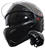 Klapphelm Integralhelm Helm Motorradhelm Rollerhelm RALLOX 339 schwarz mit Sonnenblende