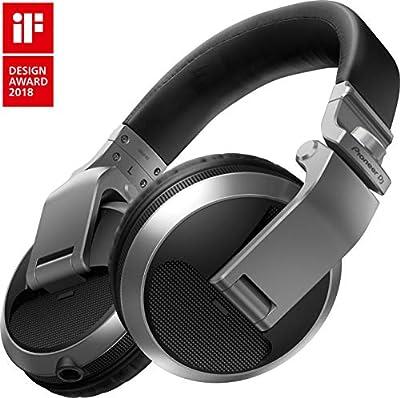 Pioneer DJ HDJ-X5-S Professional DJ Headphone, SILVER