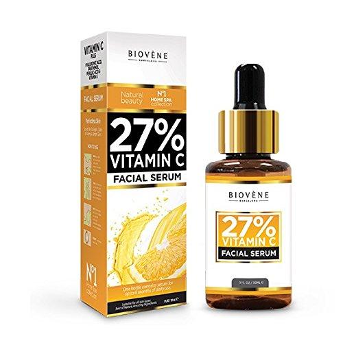 27% Vitamin C Serum  30ml Hochdosiert  Anti-Aging für Gesicht und Haut  mit Hyaluronsäure & Panthenol