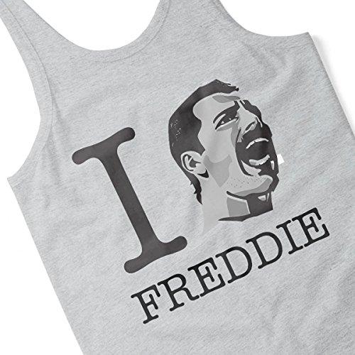 I Heart Freddie Mercury Women's Vest Heather Grey
