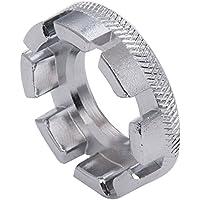 Sungpunet Llave de radios de rueda de bicicleta universal mini 8 vías herramienta de reparación de llave inglesa de llave de anillo de pezón