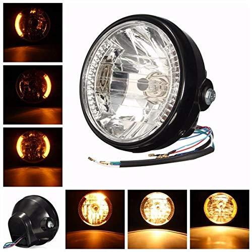 RENCALO LED-Taschenlampe für Motorrad, 7 Zoll, H4, 35 W, für Harley Honda