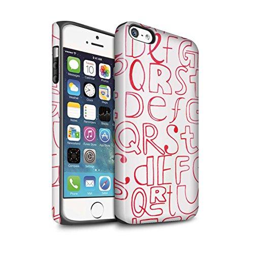 STUFF4 Matte Harten Stoßfest Hülle / Case für Apple iPhone 7 Plus / Blumentuch Muster / Heimtextilien Kollektion Haushaltswaren/Briefe