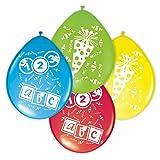 8 Luftballons farbl. sort. Schulanfang Einschulung erster Schultag ABC Schultüte (ABC / Schultüte)