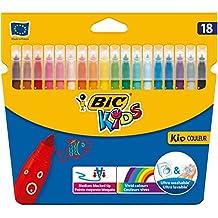 Bic Kids - Kid Couleur Etui Carton de 18 Feutres de Coloriage