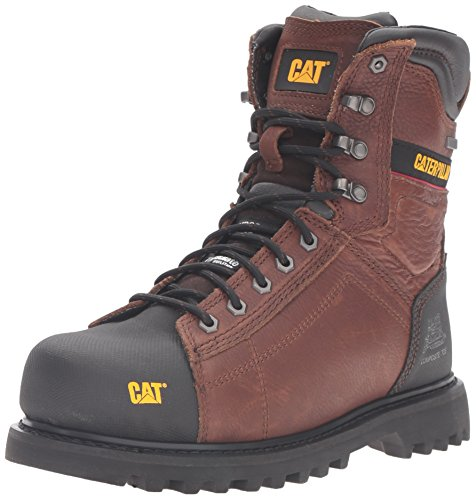 Caterpillar Mens Control 8 Waterproof TX Comp Toe Industrial and Construction Shoe Oak