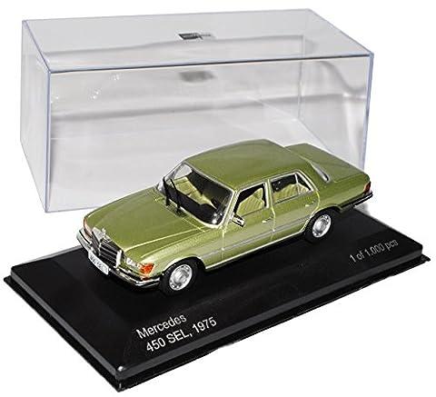 Mercedes-Benz S-Klasse W116 450SEL Limousine Grün 1972-1980 1/43 Whitebox Modell Auto