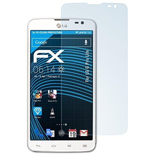 atFolix Schutzfolie kompatibel mit LG G Pro Lite Folie, ultraklare FX Bildschirmschutzfolie (3X)