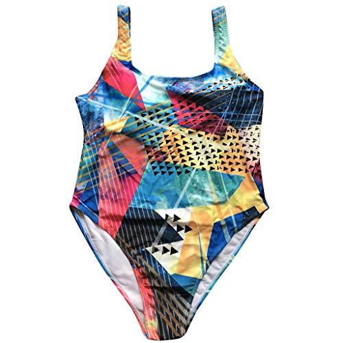 JMETRIC Lose Comfort Swimwear für Damen Digitaldruck-Bikini-Bikini Einteiliger Badeanzug(C,4XL)