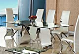 Esstisch Marta aus Edelstahl Glas 200 x 100 x 76 cm mit 15 mm Sicherheitsglas Tisch