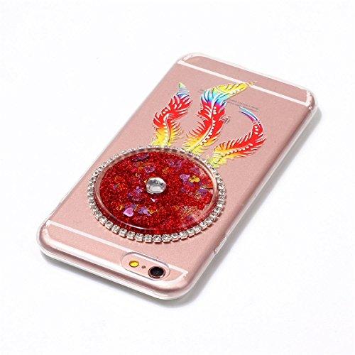 iPhone 6S Plus Hülle, iPhone 6 Plus Hülle, Gift_Source [ Blau ] Ultra Dünn Weiche Silikon Schutzhülle TPU Bumper Case Schutz Handy Hülle Case Tasche Etui Backcover Slim case für iPhone 6S Plus/6 Plus E1-Rot