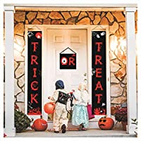 caicainiu Door Curtain Halloween Banner Oxford Trick Or Treat Kids Pumpkin Party Decoration Bar Entrance Hanging Gift Sign Home。