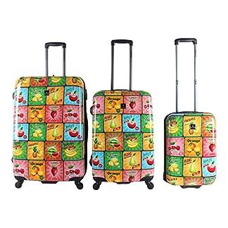Saxoline Fruit Juego de maletas, 77 cm, 198 liters, Varios colores (Mehrfarbig)
