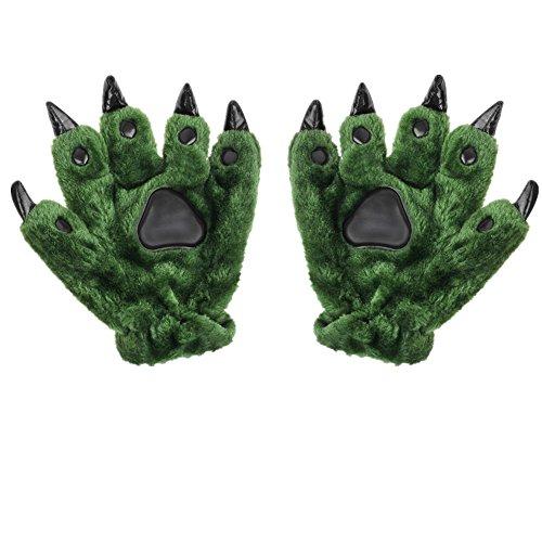 Unisex Handschuhe Cartoon Tier Muster Fingerhandschuhe Weihnachtageschenk Cosplay Kostüm Winter Thermisches Handwärmer für Erwachsene/Kinder