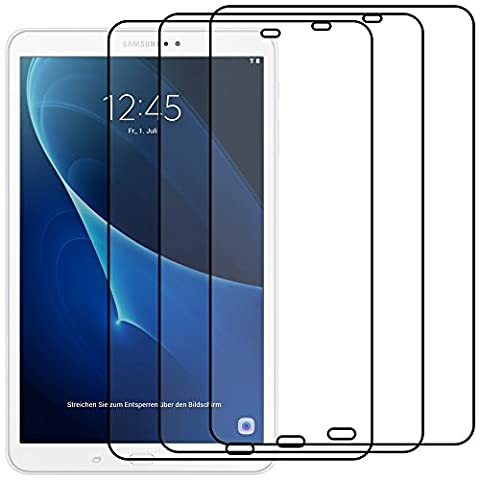 ebestStar - pour Samsung Galaxy Tab A 2016 10.1 T580 T585 (A6) - Lot x3 Film Protection d'écran anti rayures Protecteur Transparent [Dimensions PRECISES de votre appareil : 254.2 x 155.3 x 8.2 mm, écran 10.1'']