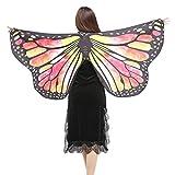Schmetterlings Flügel Schals, VEMOW Frauen 147 * 70CM Mehrfarbig Shawl Weiches Gewebe Fee Damen Nymph Pixie Tanzperformance Halloween Cosplay Weihnachten Cosplay Kostüm Zusatz