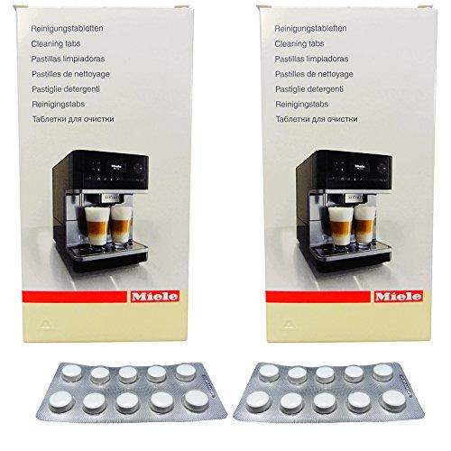 2er Pack Miele Reinigungstabletten für Miele Kaffee-/Espressomaschinen 10x2g