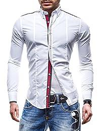 BOLF Herren Langarm Herrenhemd Figurbetont Freizeit Slim 4707