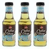 Schwartau Coffee Shop Sirup Vanille Zuckerfrei, Kaffeesirup, für Kaffee und Dessert, 3 x 200 ml