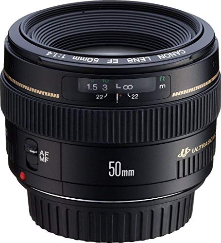 Canon EF 50mm F1.4 USM Standardobjektiv (58mm Filtergewinde) schwarz