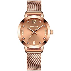 fashion steel Women Watch/Simple girls waterproof watch/ ladies quartz watch and leisure-E