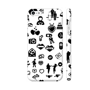 Colorpur iPhone 5 / 5s Cover - Love Objects On White Printed Back Case