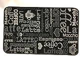 Tappeto cm 50 x 80 caffe coffe latte cappuccino nero grigio - zerbino - tappeto bagno - cucina - antiscivolo lavabile in lavatrice