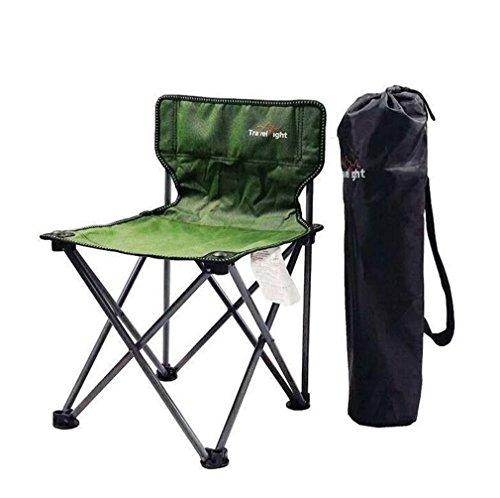 TTYY Chaise pliante en plein air Lune Chaise Pêche Camping Plage En Plein Air Loisirs Pique-Nique Étanche , vert