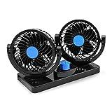 Ventilateur de voiture électrique de 12V Ventilateur de circulation à air comprimé de 2 vitesses à rotation variable à 2 vitesses Auto ventilateur à circulation automatique à fourgon V