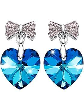 SIVERY 'Liebesherz' Damen Ohrringe mit blau Swarovski Elemente, damen ohrringe, damen schmuck …
