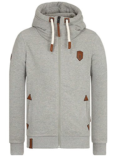 Naketano Male Zipped Jacket Schwarzkopf IV gun smoke grey melange