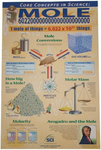 Neo Sci Cornerstones of Chemistry with The Mole Laminated Poster, 23