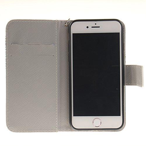 Iphone 7 Hülle, Linvei leder Hülle für Iphone 7 Flip Case ,Magnetic closure Apple 7 hülle, Schutz vor Dreck für Iphone 7 Taschen Schale Color 42