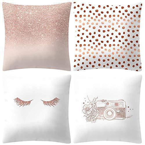 VJGOAL Moda impresión decoración hogar Rosa Suave