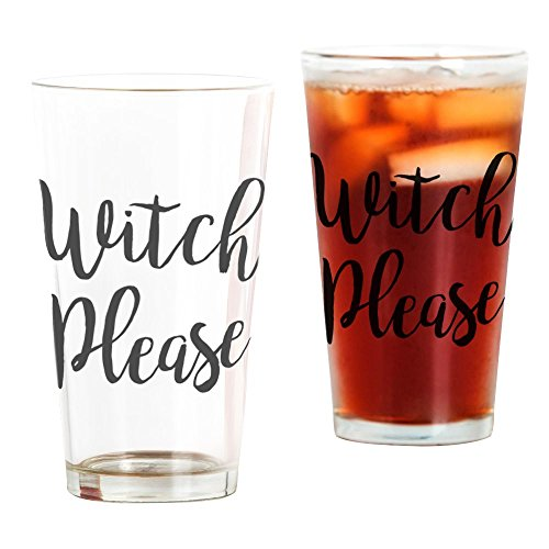 CafePress - Hexe Please - Pint-Glas, 473 ml Trinkglas farblos