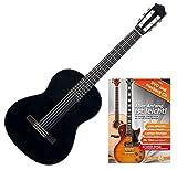 Yamaha C40BL Konzertgitarre (ideal für Einsteiger, Decke aus Fichte, Boden und Zargen aus Meranti, Hals aus Nato, inklusive Gitarrenschule