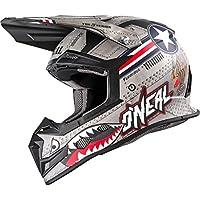 0618-014 - Oneal 5 Series Wingman Motocross Helmet L Metal White