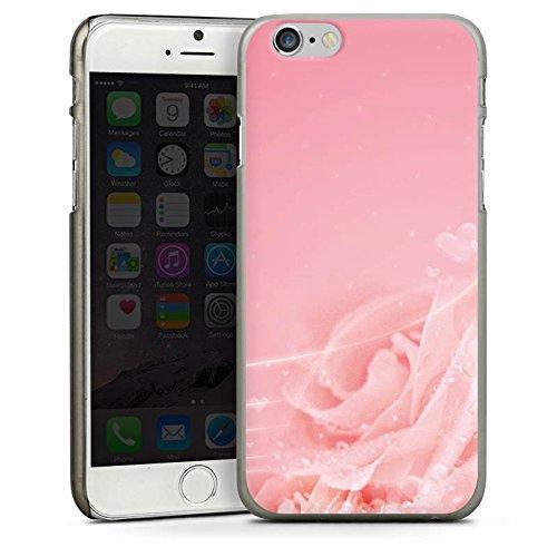 Apple iPhone 5s Housse Étui Protection Coque Rose Fleurs Fleurs CasDur anthracite clair