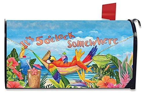 Briarwood Lane 5Uhr Parrot Sommer groß magnetisch Mailbox Cover Tropical Beach Oversized