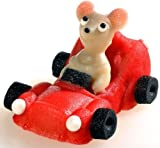Marzipan Auto rot mit Maus 70 g