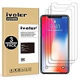iVoler [3 Pack] Pellicola Vetro Temperato per iPhone XS/iPhone X/iPhone 10 5.8 Pollici [Garanzia a Vita], Pellicola Protettiva, Protezione per Schermo